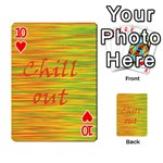Chill out Playing Cards 54 Designs  Front - Heart10