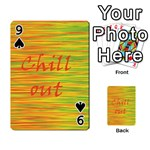 Chill out Playing Cards 54 Designs  Front - Spade9