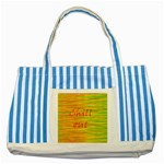 Chill out Striped Blue Tote Bag