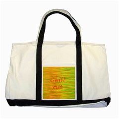 Chill Out Two Tone Tote Bag