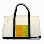 Chill out Two Tone Tote Bag Front
