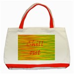 Chill out Classic Tote Bag (Red) Front