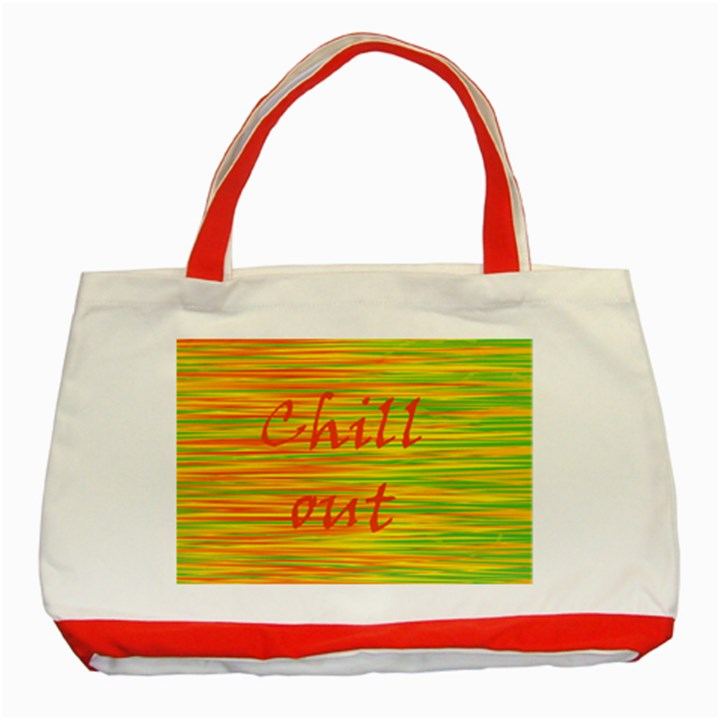 Chill out Classic Tote Bag (Red)