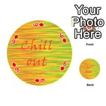 Chill out Playing Cards 54 (Round)  Front - Diamond6