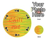 Chill out Playing Cards 54 (Round)  Front - Club4