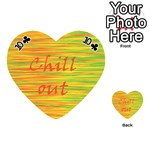 Chill out Playing Cards 54 (Heart)  Front - Club10