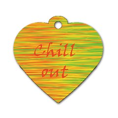 Chill Out Dog Tag Heart (two Sides) by Valentinaart