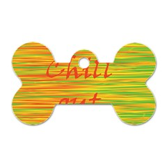 Chill Out Dog Tag Bone (one Side) by Valentinaart
