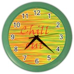 Chill out Color Wall Clocks Front