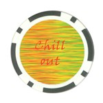 Chill out Poker Chip Card Guards Back