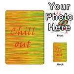Chill out Multi-purpose Cards (Rectangle)  Frontback