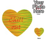 Chill out Multi-purpose Cards (Heart)  Back 49
