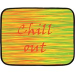 Chill out Double Sided Fleece Blanket (Mini)  35 x27 Blanket Back