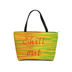Chill Out Shoulder Handbags by Valentinaart