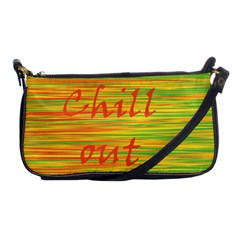 Chill Out Shoulder Clutch Bags by Valentinaart