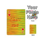 Chill out Playing Cards 54 (Mini)  Front - Heart7