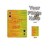 Chill out Playing Cards 54 (Mini)  Front - Spade4