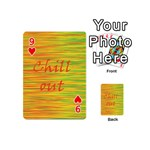 Chill out Playing Cards 54 (Mini)  Front - Heart9