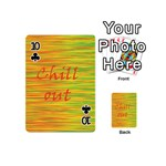 Chill out Playing Cards 54 (Mini)  Front - Club10