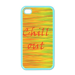 Chill Out Apple Iphone 4 Case (color) by Valentinaart