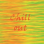 Chill out Twin Hearts 3D Greeting Card (8x4) Inside