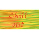 Chill out Twin Hearts 3D Greeting Card (8x4) Back