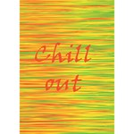 Chill out Circle 3D Greeting Card (7x5) Inside
