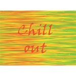 Chill out Circle 3D Greeting Card (7x5) Back