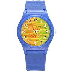 Chill Out Round Plastic Sport Watch (s) by Valentinaart
