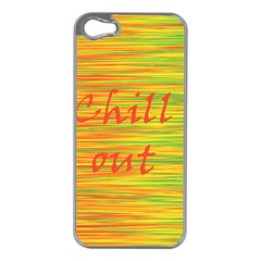 Chill Out Apple Iphone 5 Case (silver)