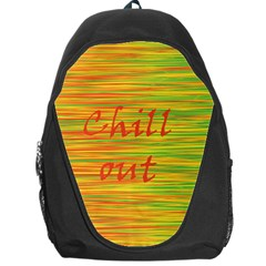 Chill Out Backpack Bag by Valentinaart