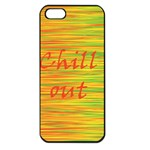 Chill out Apple iPhone 5 Seamless Case (Black) Front
