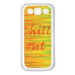 Chill out Samsung Galaxy S3 Back Case (White) Front