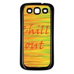 Chill out Samsung Galaxy S3 Back Case (Black)