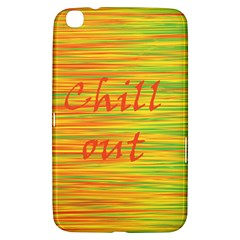 Chill Out Samsung Galaxy Tab 3 (8 ) T3100 Hardshell Case  by Valentinaart