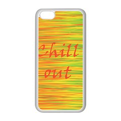 Chill Out Apple Iphone 5c Seamless Case (white) by Valentinaart