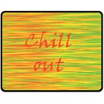 Chill out Double Sided Fleece Blanket (Medium)  58.8 x47.4 Blanket Back