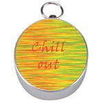 Chill out Silver Compasses Front