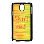 Chill out Samsung Galaxy Note 3 Neo Hardshell Case (Black)