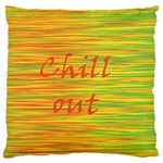 Chill out Large Flano Cushion Case (Two Sides) Back