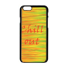 Chill Out Apple Iphone 6/6s Black Enamel Case by Valentinaart