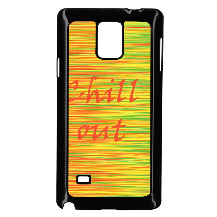 Chill out Samsung Galaxy Note 4 Case (Black)