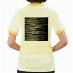 Black an white  Chill out  Women s Fitted Ringer T-Shirts Back