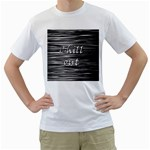Black an white  Chill out  Men s T-Shirt (White) (Two Sided) Front