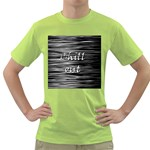 Black an white  Chill out  Green T-Shirt Front