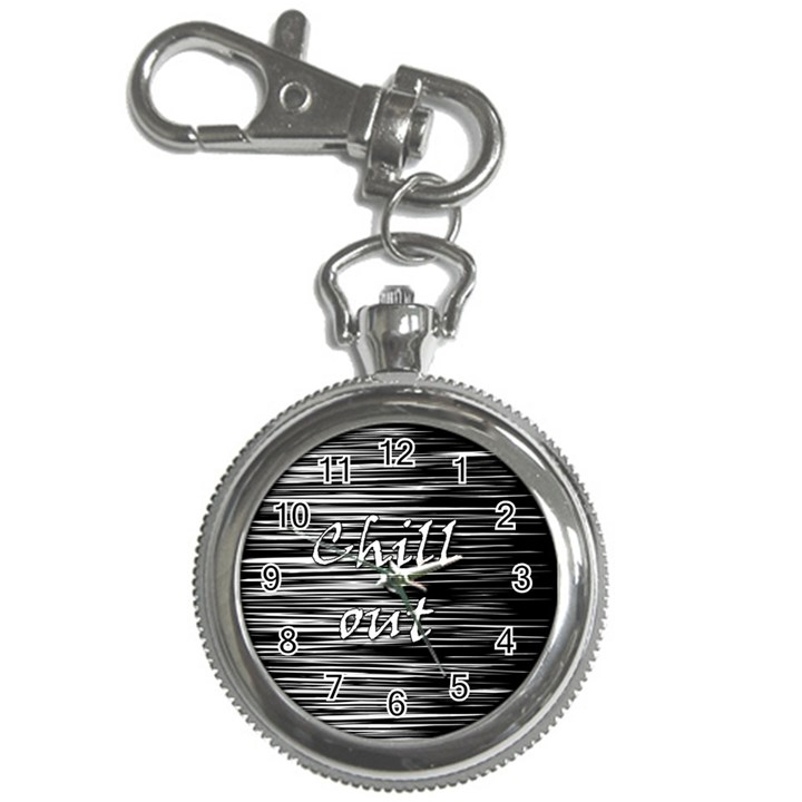 Black an white  Chill out  Key Chain Watches
