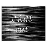 Black an white  Chill out  Rectangular Jigsaw Puzzl Front