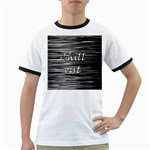 Black an white  Chill out  Ringer T-Shirts Front