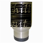 Black an white  Chill out  Travel Mug (Silver Gray) Center