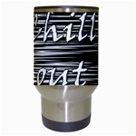 Black an white  Chill out  Travel Mugs (White) Center